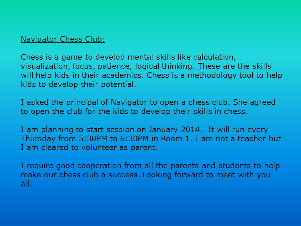Navigator Chess Club: