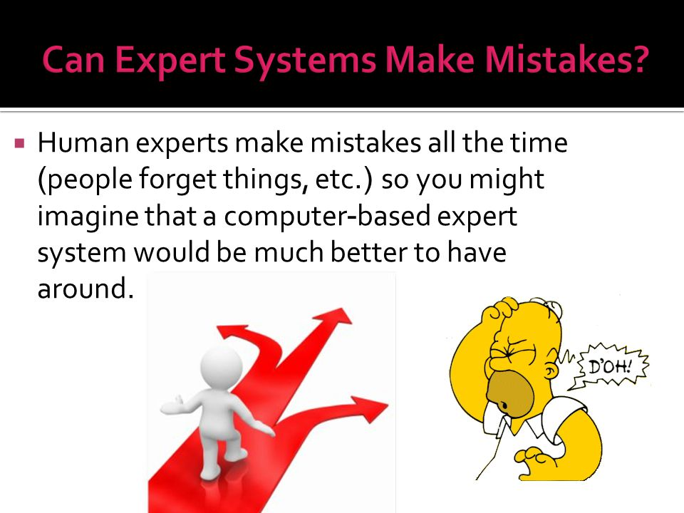 Can Expert Systems Make Mistakes