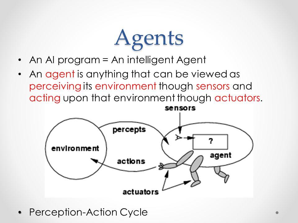 Agents An AI program = An intelligent Agent