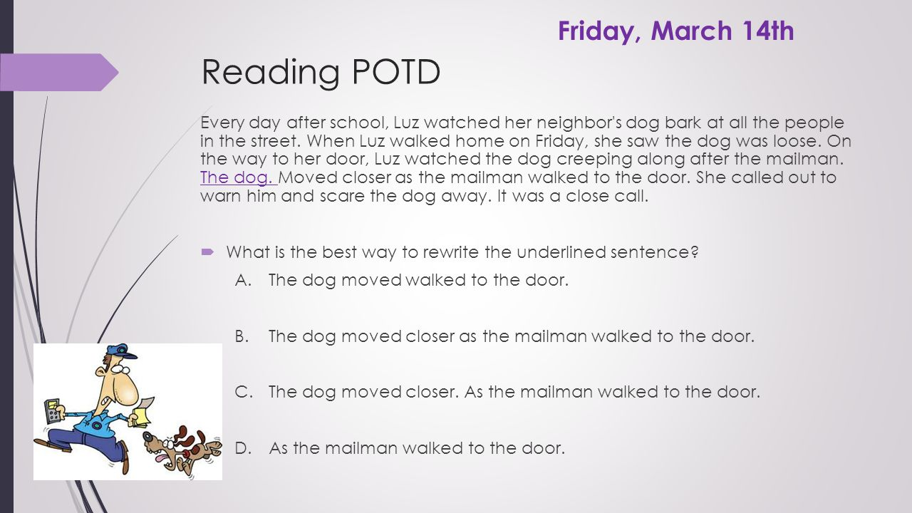 Reading POTD Friday, March 14th