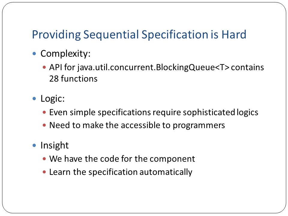 Providing Sequential Specification is Hard