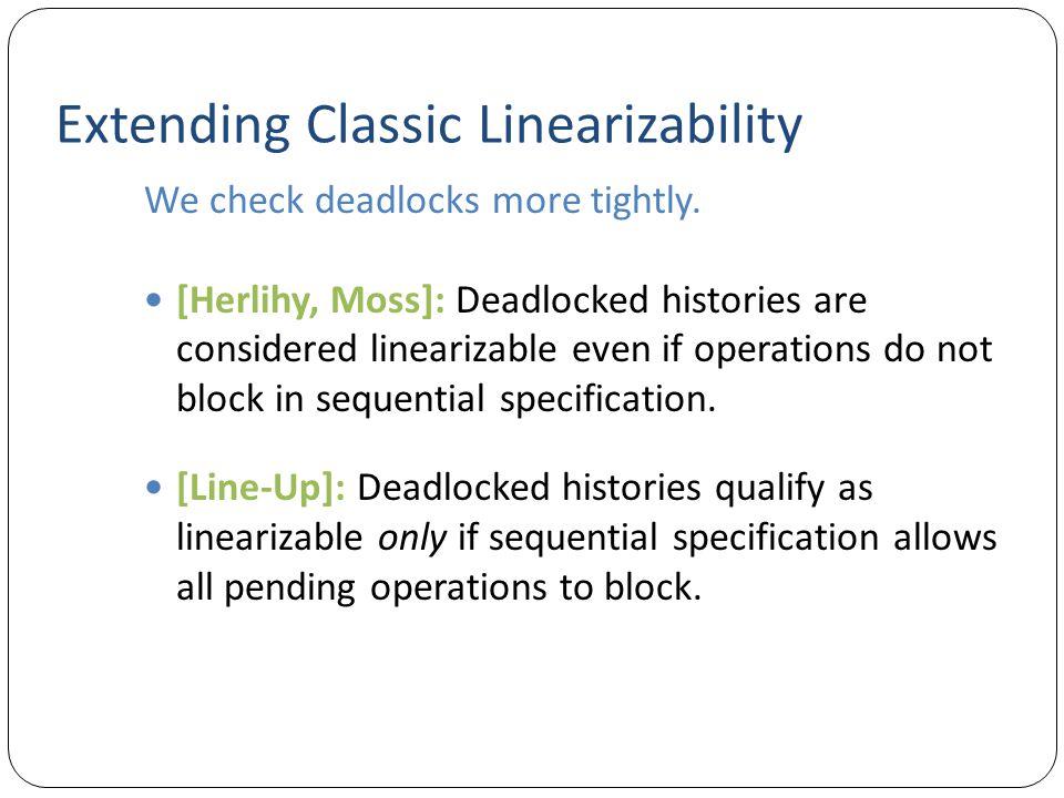 Extending Classic Linearizability