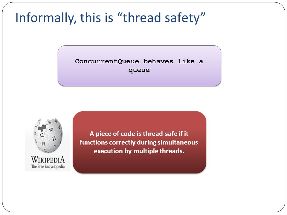 Informally, this is thread safety