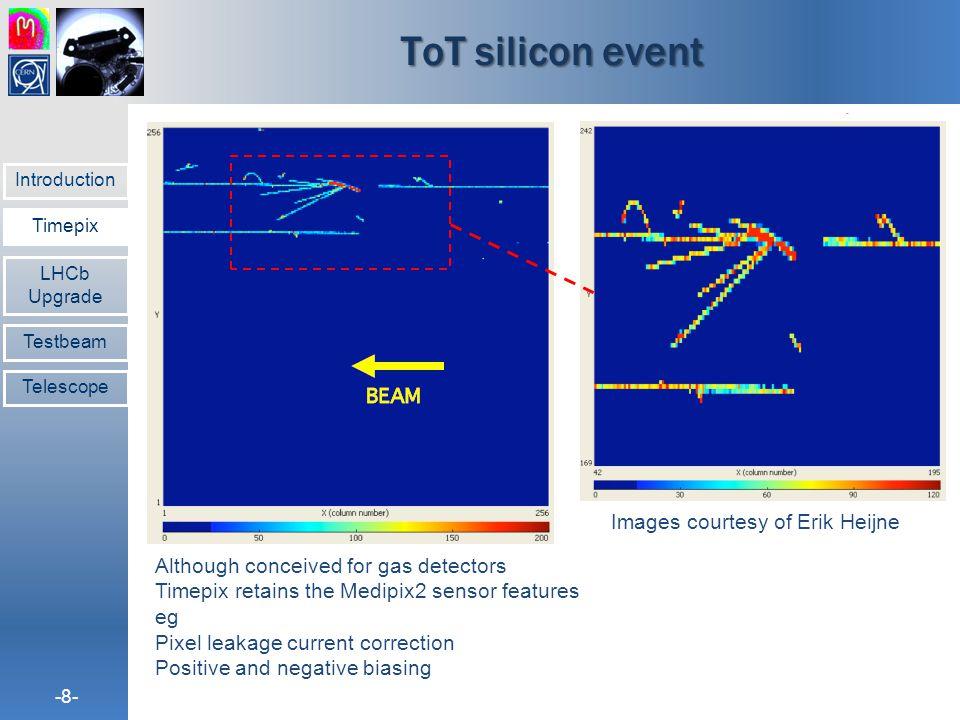 ToT silicon event Images courtesy of Erik Heijne