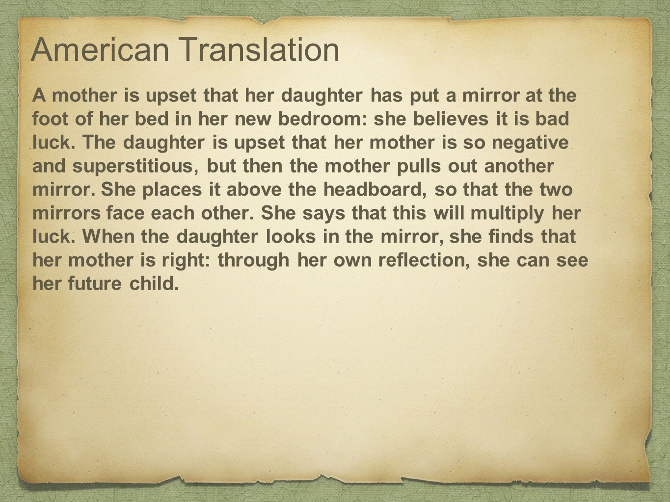 Mirrors In Bedroom Superstition American Translation Ppt Download