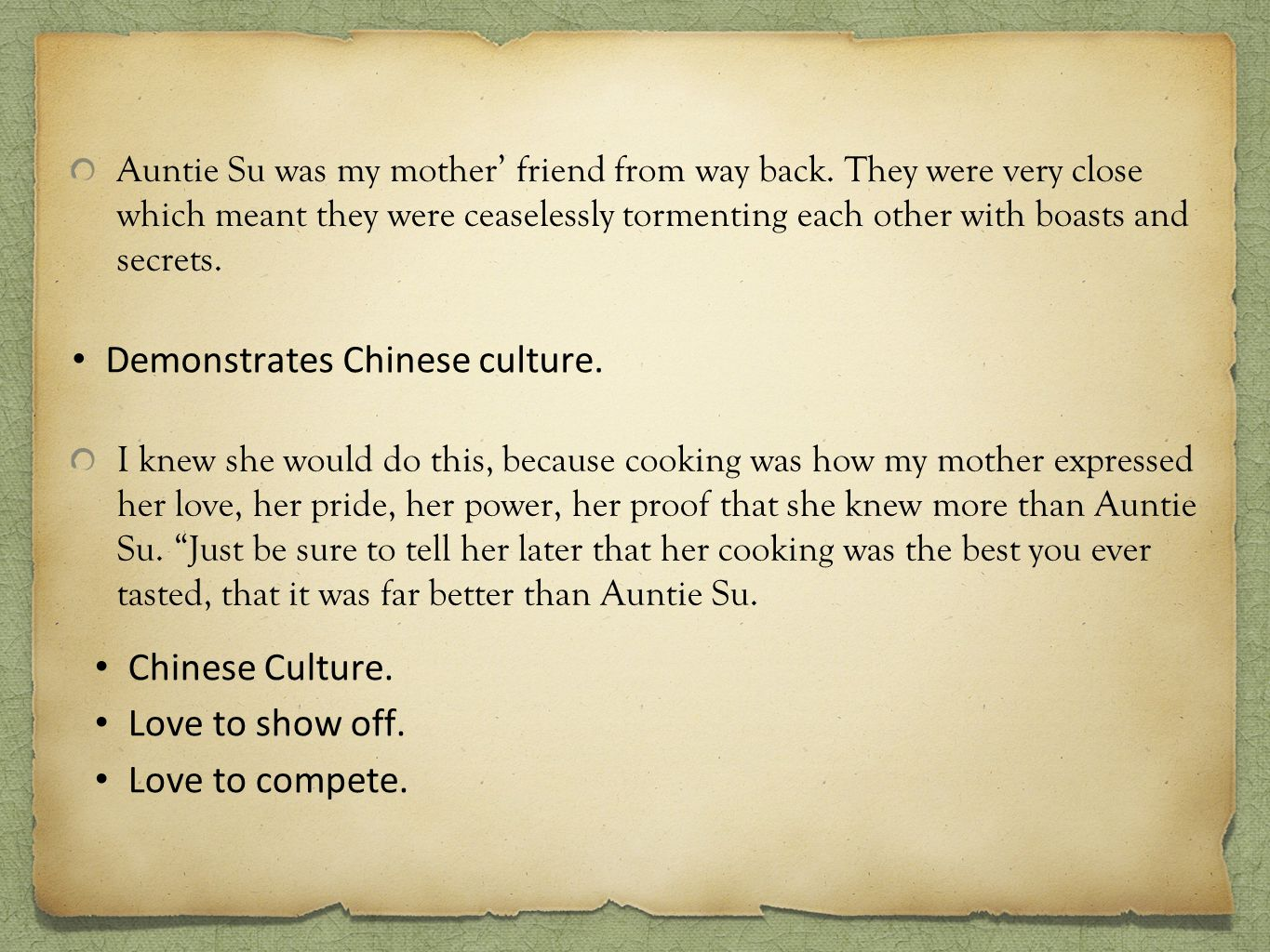 Demonstrates Chinese culture.
