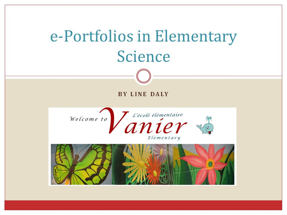 e-Portfolios in Elementary Science