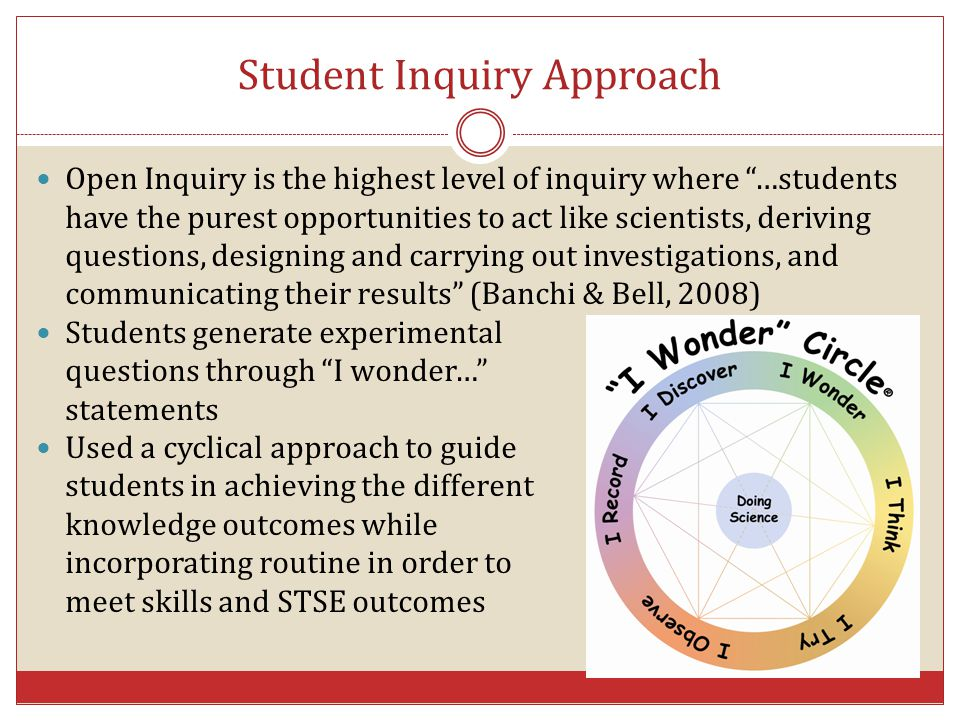 Student Inquiry Approach
