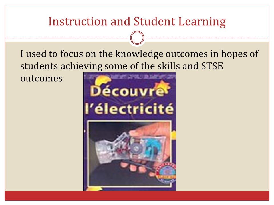 Instruction and Student Learning