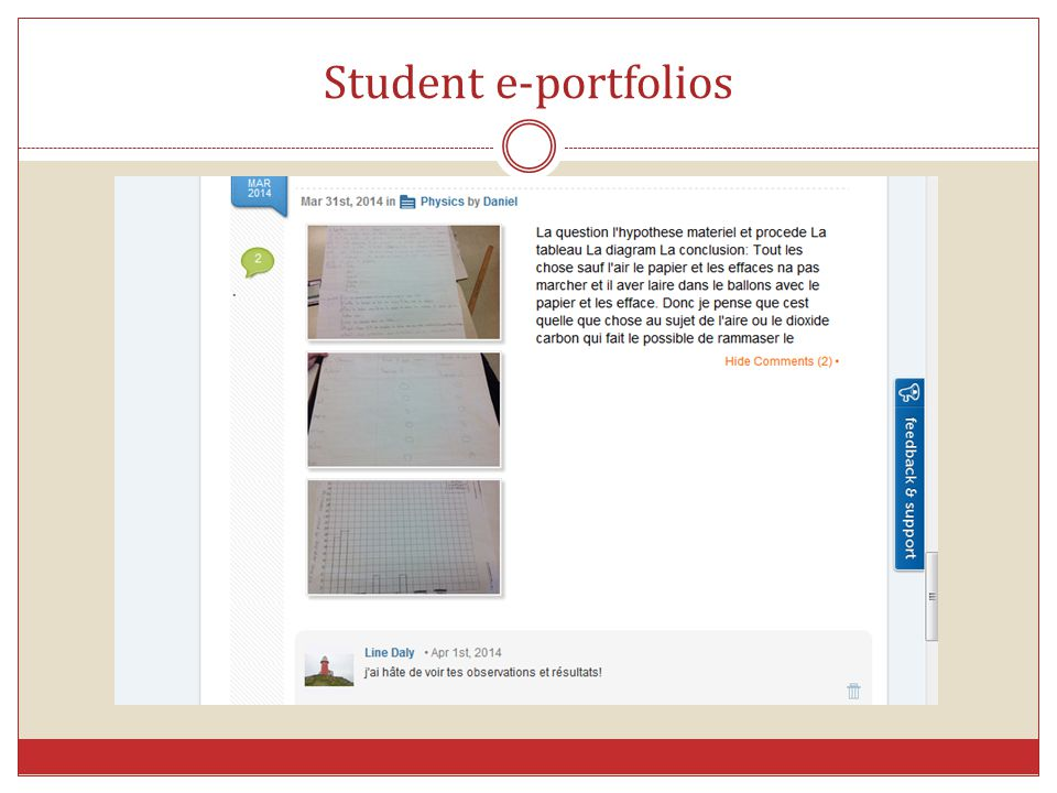 Student e-portfolios