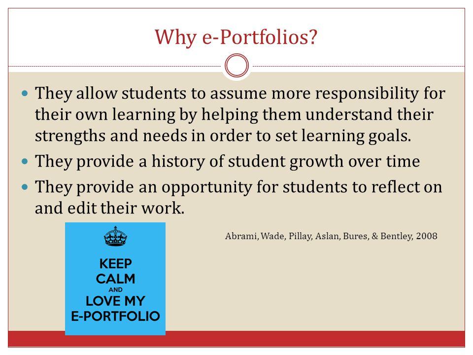 Why e-Portfolios