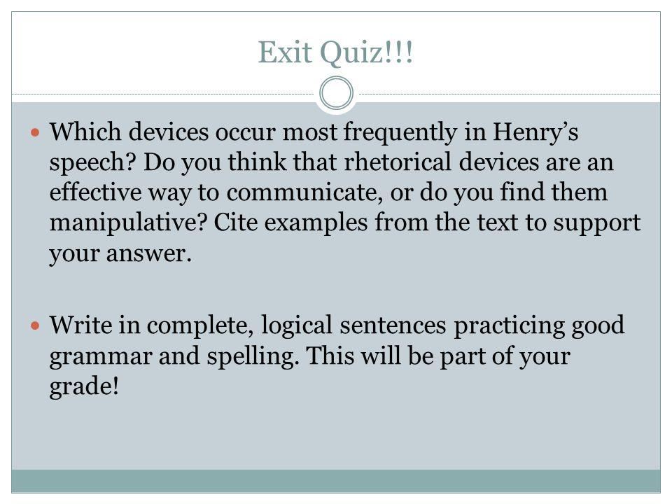 Exit Quiz!!!