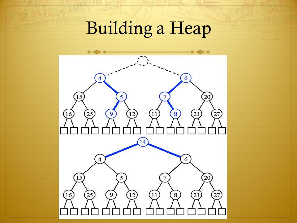 Building a Heap