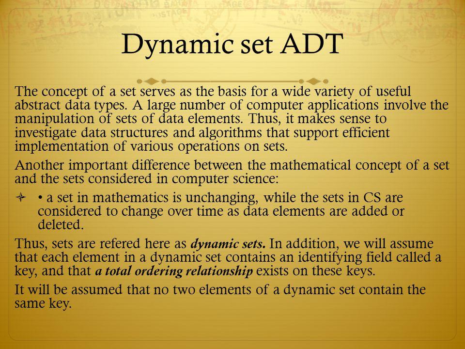 Dynamic set ADT
