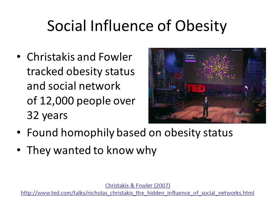 Social Influence of Obesity