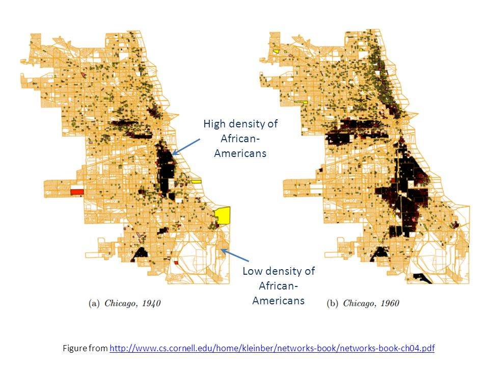 High density of African-Americans