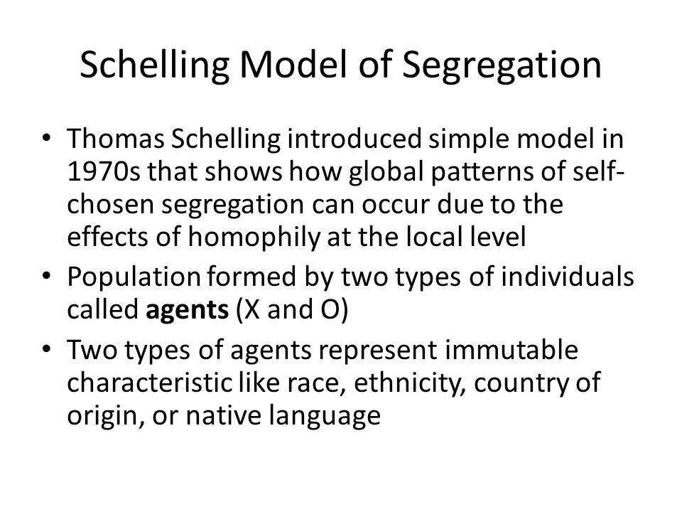 Schelling Model of Segregation