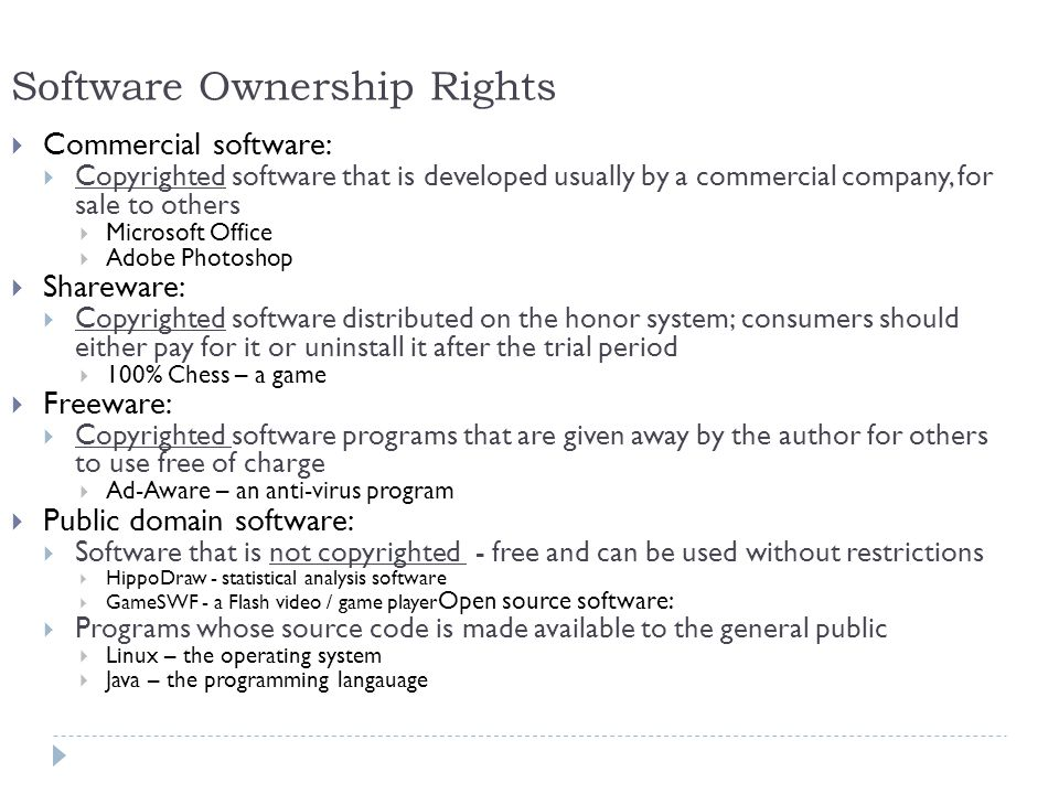Software Ownership Rights