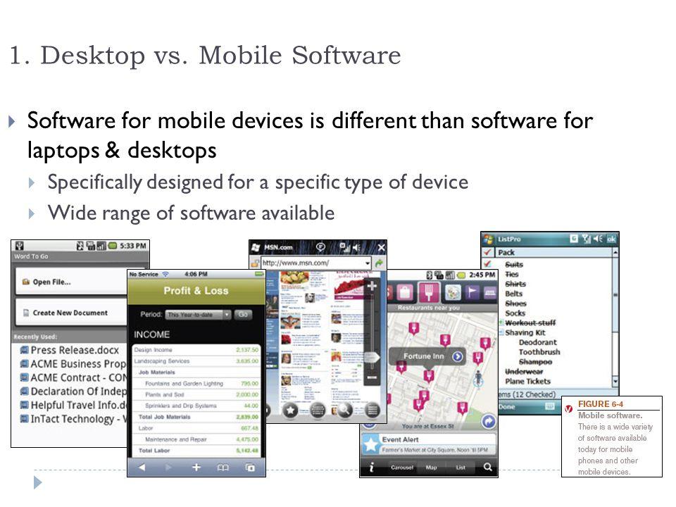 1. Desktop vs. Mobile Software