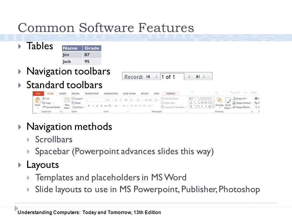 Common Software Features
