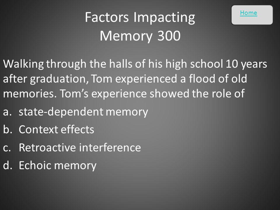 Factors Impacting Memory 300
