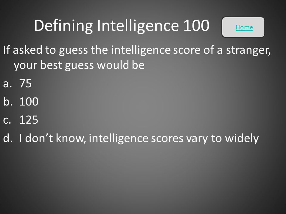 Defining Intelligence 100