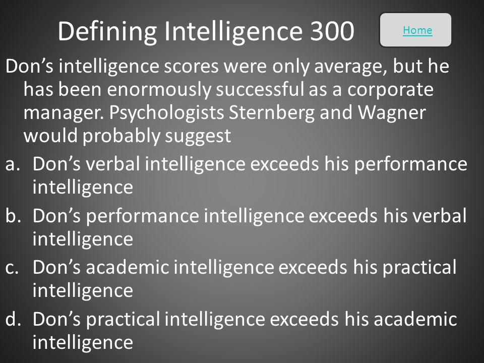 Defining Intelligence 300