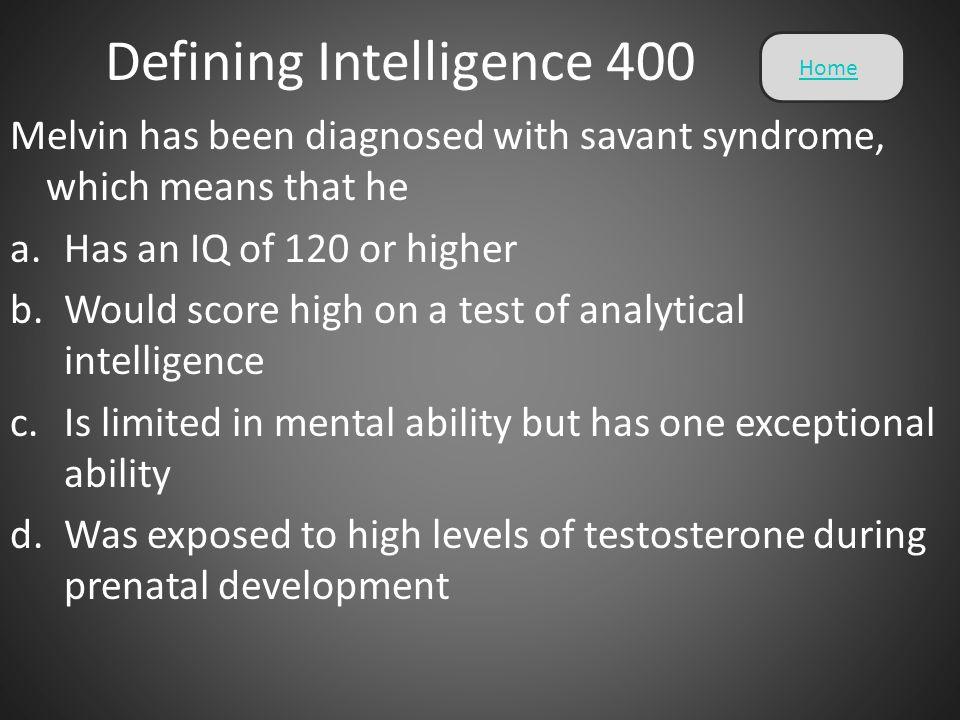 Defining Intelligence 400