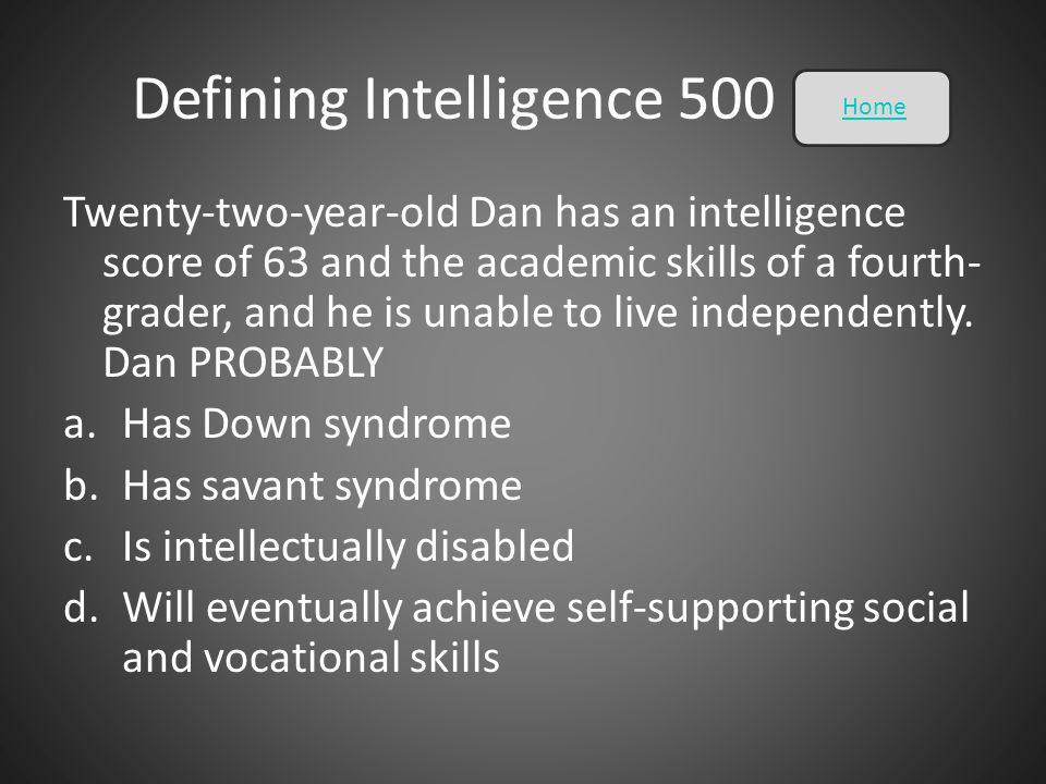 Defining Intelligence 500