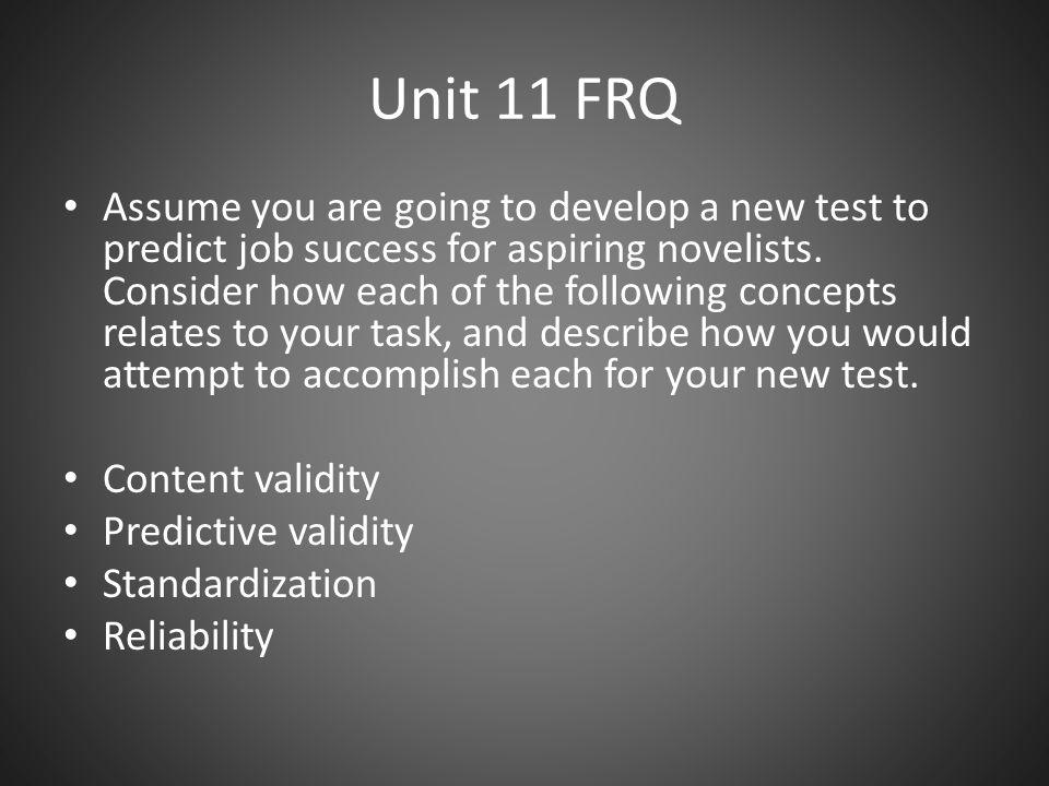 Unit 11 FRQ