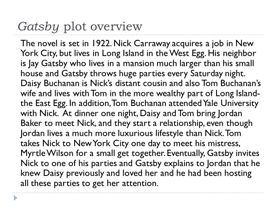 Gatsby plot overview