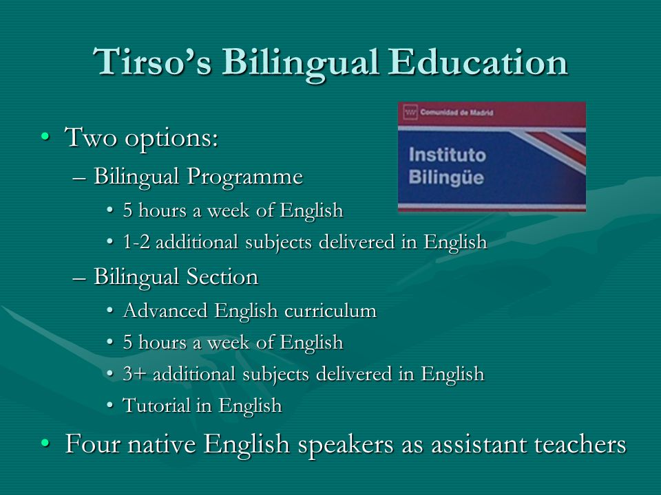 Tirso's Bilingual Education