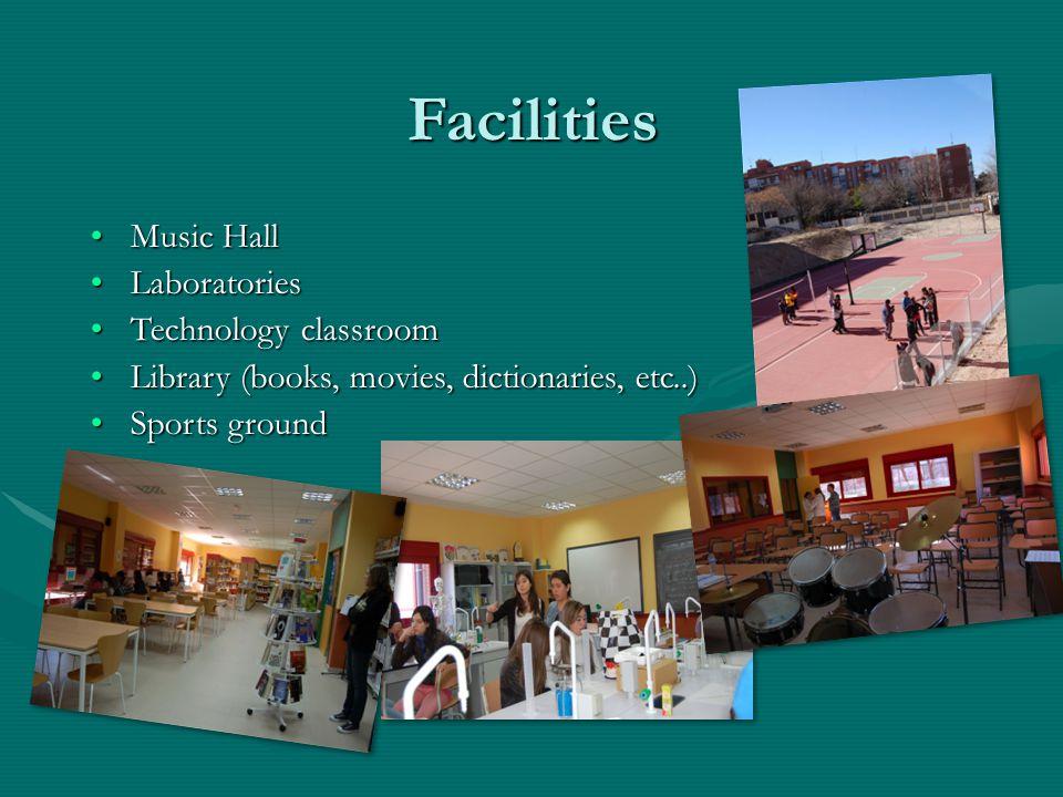 Facilities Music Hall Laboratories Technology classroom