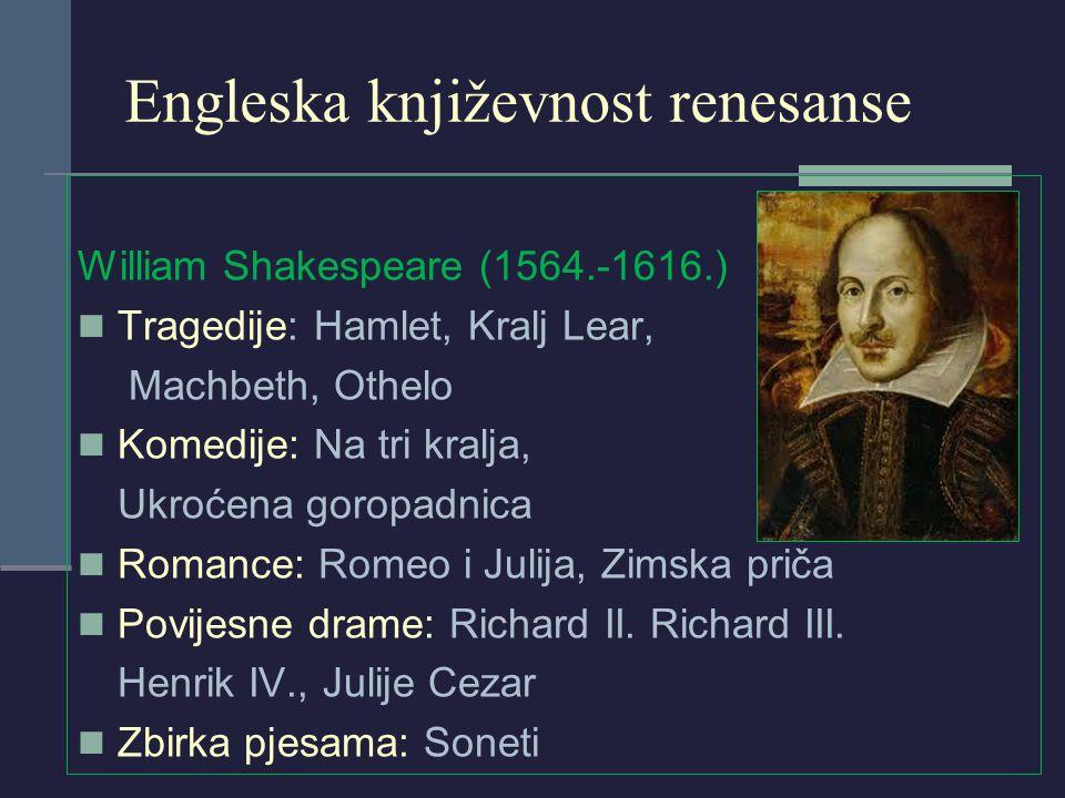 Engleska književnost renesanse