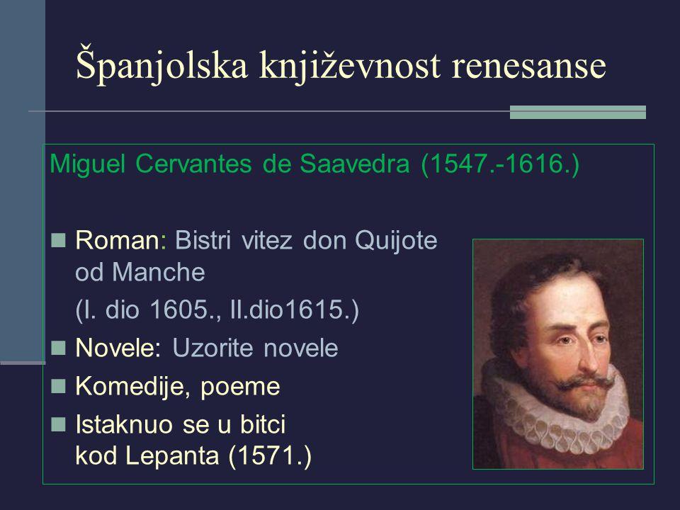 Španjolska književnost renesanse