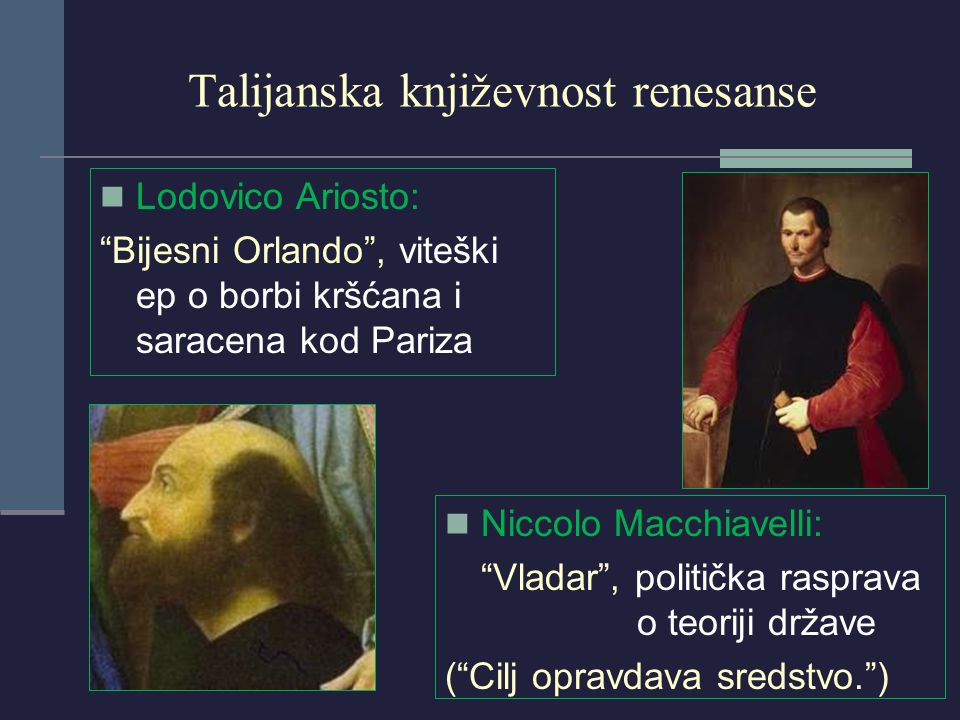 Talijanska književnost renesanse