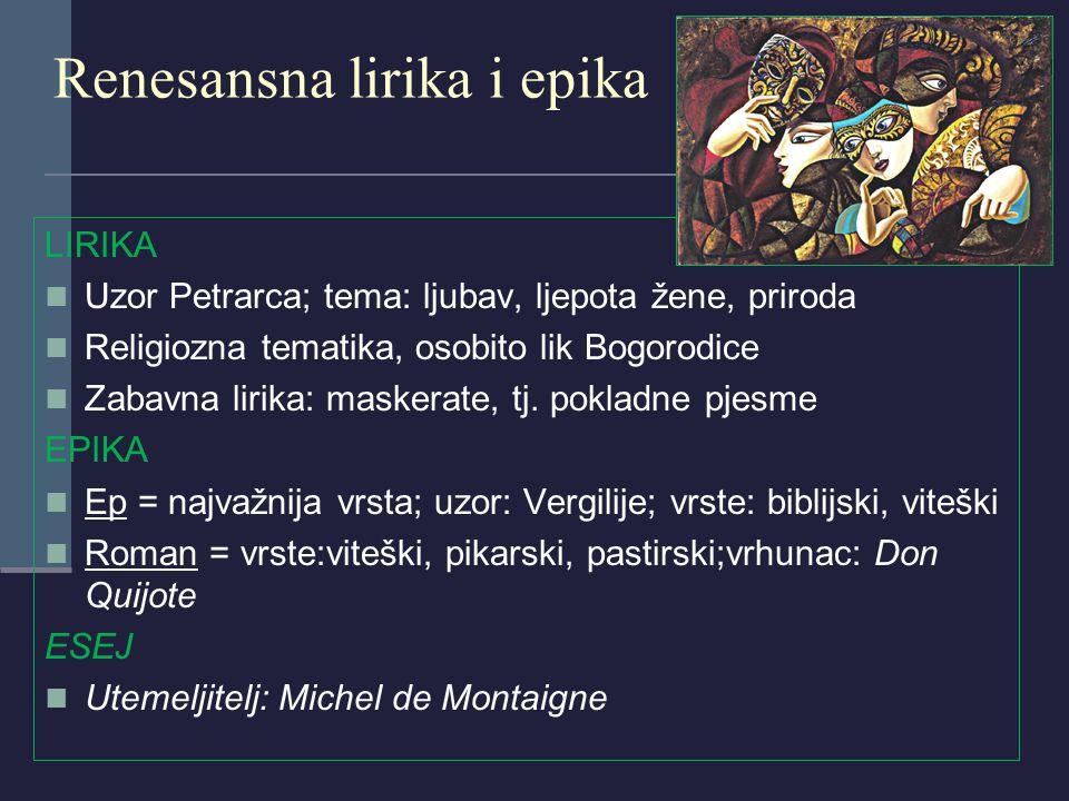 Renesansna lirika i epika
