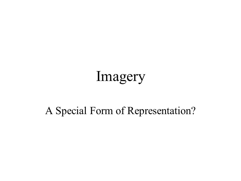 A Special Form of Representation