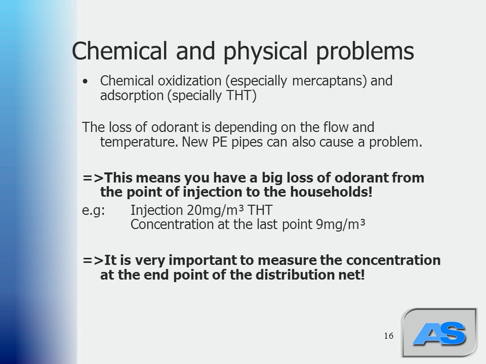 Chemical and physical problems