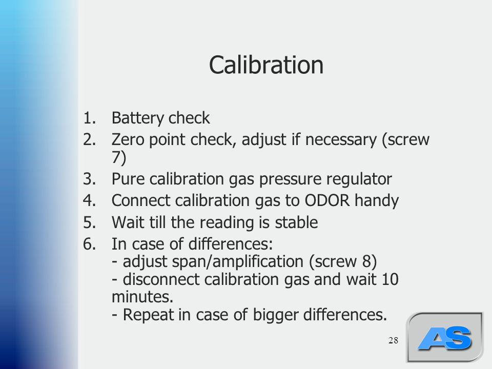 Calibration Battery check