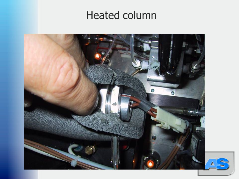 Heated column