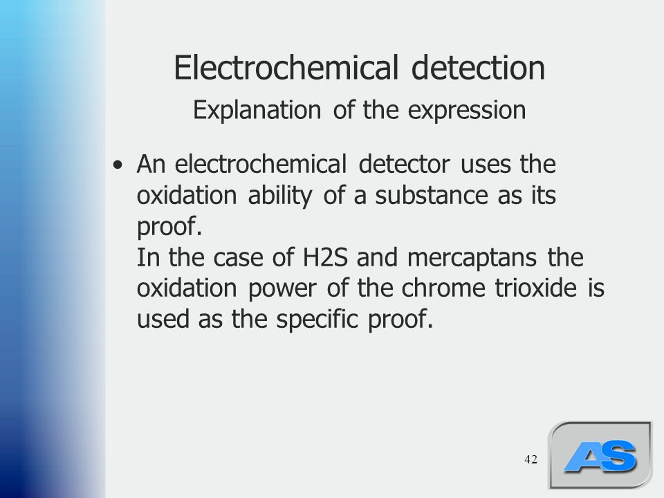 Electrochemical detection Explanation of the expression