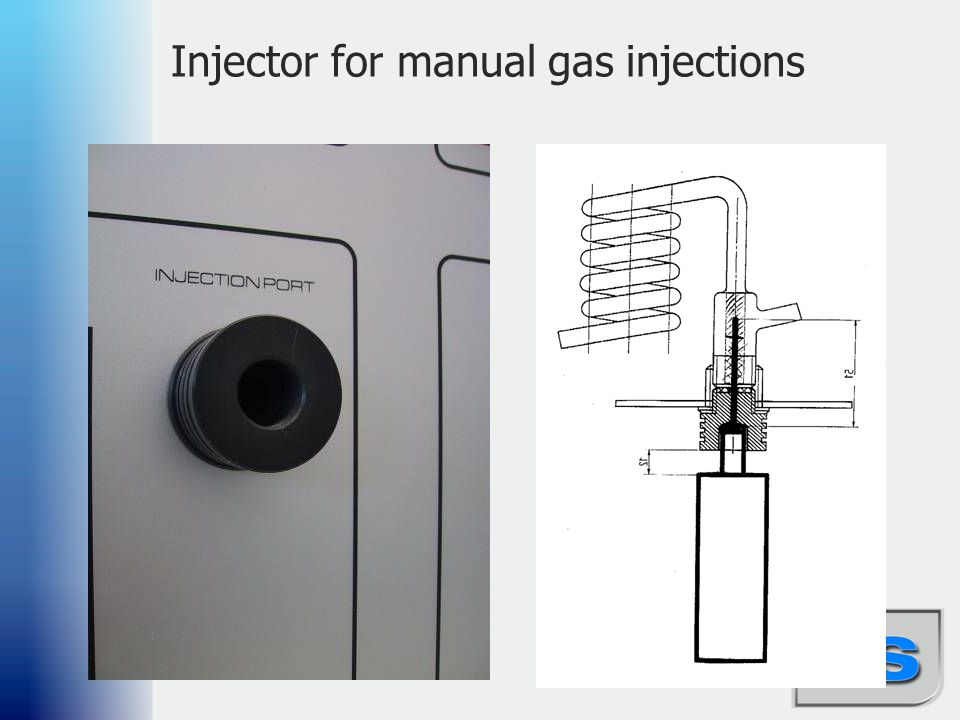 Injector for manual gas injections
