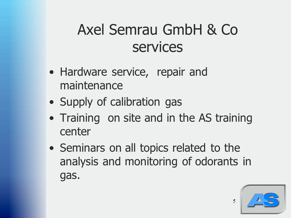 Axel Semrau GmbH & Co services