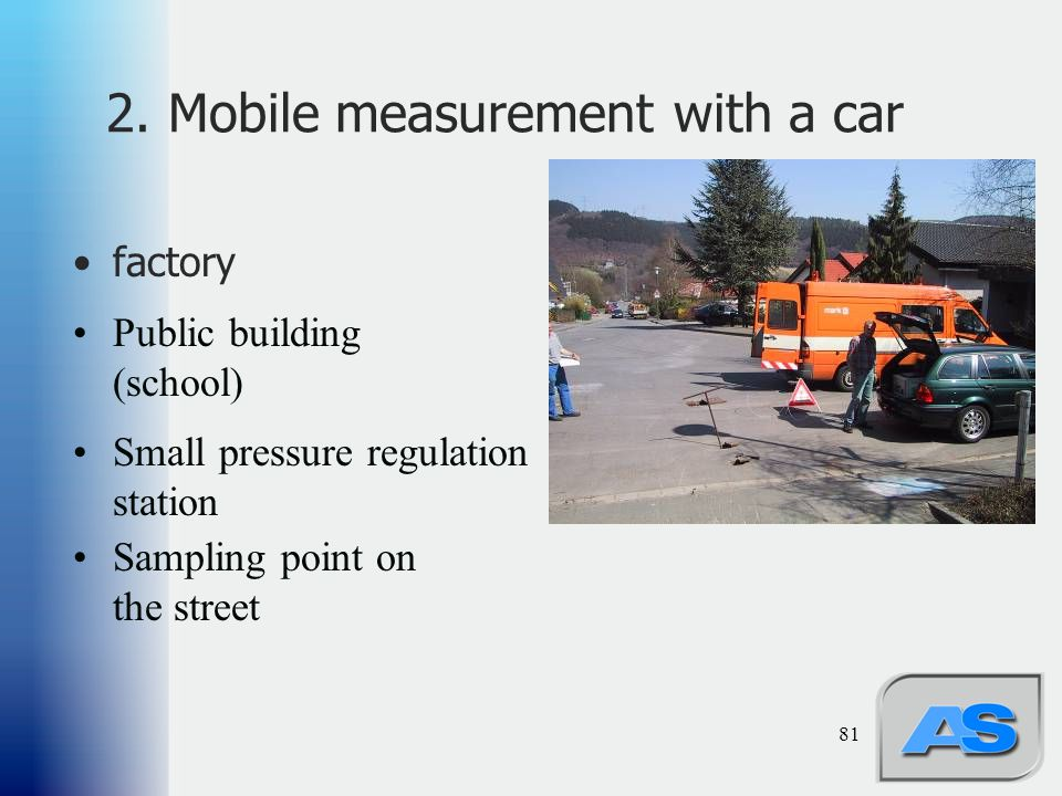 2. Mobile measurement with a car