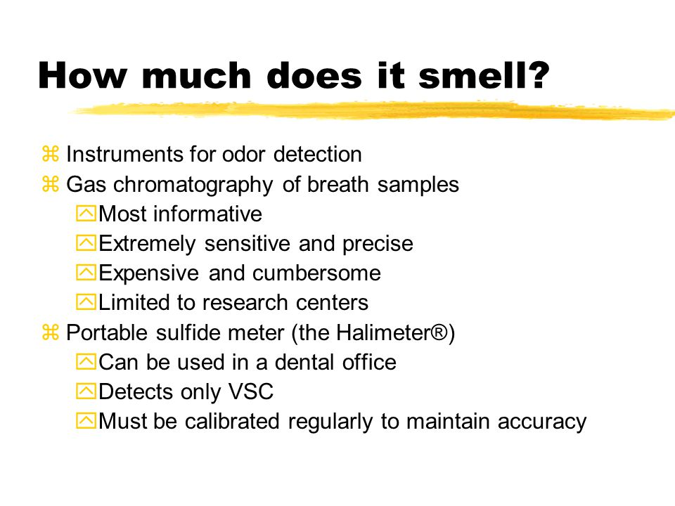 How much does it smell Instruments for odor detection