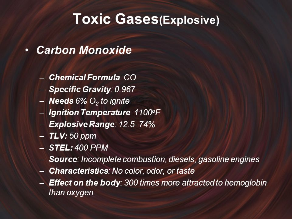 Toxic Gases(Explosive)