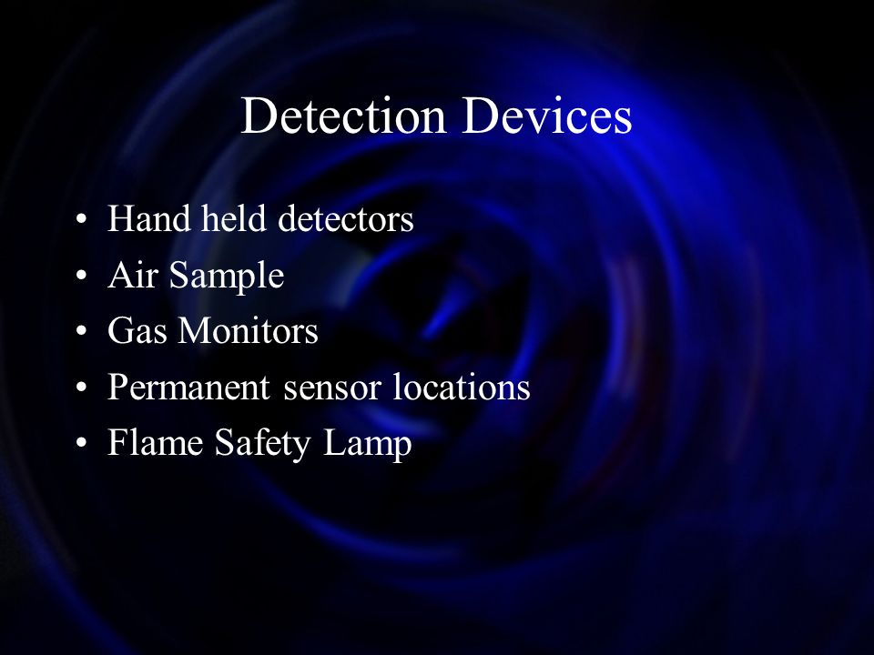 Detection Devices Hand held detectors Air Sample Gas Monitors