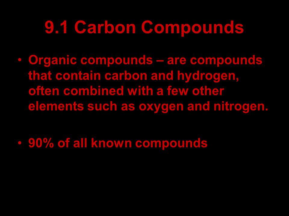 9.1 Carbon Compounds