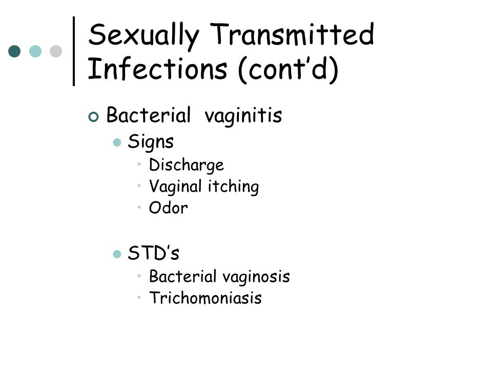 Sexually Transmitted Infections (cont'd)